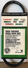 GENUINE MTD Snow Thrower Wheel Drive Belt OEM 754-04013 for MTD, Troy-Bilt, etc