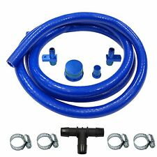 6.6L DURAMAX PCV Reroute Kit With 8 ft Hose & Resonator Plug BLUE