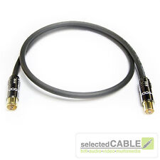 HDTV Antennenkabel 7m 120dB 3-fach geschirmt Class A schwarz IEC + HI-ANCM01