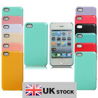 New iPhone 4 4G 4S Candy Coloured Hard Back Case UK SELLER