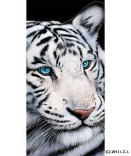"White Tiger Beach Pool Towel 30"" x 60"" Summer Gift Wild Cat Animal"