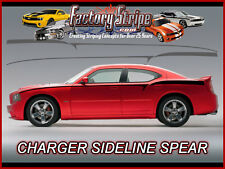 DODGE CHARGER SIDELINE SPEARS DECALS KIT FACTORY STRIPE 2006-2010