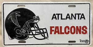 Atlanta Falcons Football Helmet Logo License Plate - NEW - 1993 NOS NFL Booster