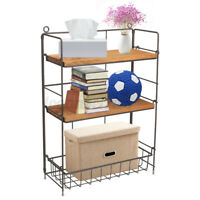 3-Tier Metal Shelving Desktop Shelf Rack Storage Organizer Home Kitchen