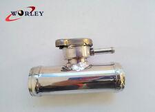 "In Line Aluminum Radiator Hose Filler Neck /Cap Hose OD=1 1/2"" (38mm) New"