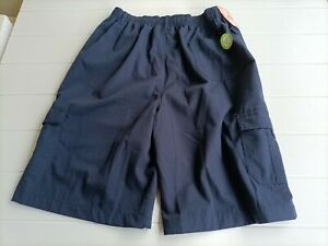 STUBBIES Schoolwear Cargo Shorts  Navy Size 16 Kids 76 cms NWT''s Free Postage !