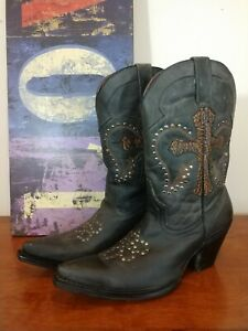 Women's Rebel leather Cowboy boots cross size 10