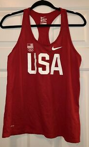 Women's Red Nike Athletic Tank, Size Large