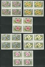 Austria: Scott (719-724)+(764-769), block of 4, thematic flowers, XF, EBOS01