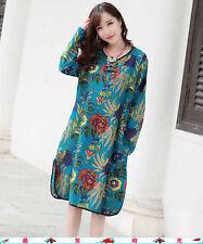 Korean Women's Fashion Traditional Floral Print Dress