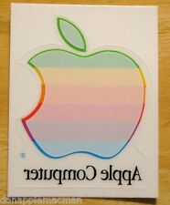 Vintage APPLE Computer Rainbow Logo Window Cling Decal NEW Unused FREE Shipping!