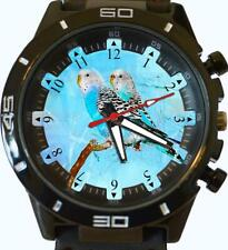 Budgies Colourful Australian Parrots Art Beautiful Gift Unisex Wrist Watch Hot