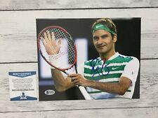 Roger Federer Signed Autographed 8x10 Photo Beckett BAS COA e