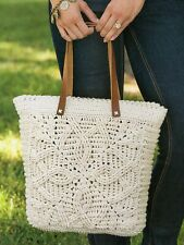 Crochet Pattern - Ladies Braided Cables Tote Bag  A0137