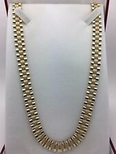 "New Men's Solid 10K Yellow Gold 26.5"" Watch Link Chain Necklace 44 grams,10.2 mm"