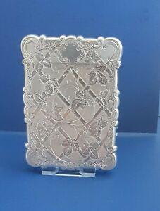 Victorian Silver Card Case. Hallmarked Birmingham 1850. Edward Smith.