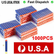 1000pcs Round Head Refill Toy Gun Bullet Darts for NERF Blasters blue N-Strike