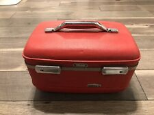 Vintage mid century American Tourister Tiara Red Makeup Train Case Luggage