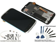 Original HTC Desire X Display Touchscreen LCD Rahmen Glas Digitizer silber