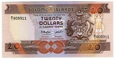 **   SALOMON  Islands     20  dollars  1986   p-16a    UNC   **