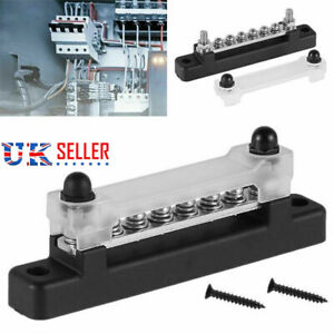 6 Way Bus Bar Auto & Marine Power Distribution Earthing Block 150A Rated 12V UK