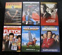 DVD Lot 06 Assorted Movies Lot - Tremors Beverly Hill Cop Anchorman Fletch Deuce