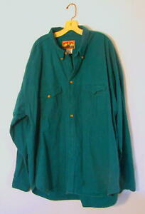 5XLT Moose Creek Blue-green flannel shirt