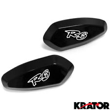 Motorcycle Black Mirrors Block Offs Off Base Plates for Yamaha YZF R6 1999-2007