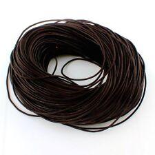 Lederband Braun 2mm Schmuckherstellung Lederschnur für Halsketten Anhänger C14