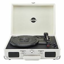 Zennox Briefcase Record Player Turntable 3 Speed Portable Vinyl Suitcase USB