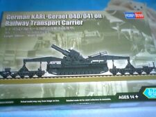 Hobby Boss Escala 1/72 la segunda guerra mundial alemán Karl-geraet 040/041 en railwat TRA/Carr 82961
