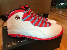 NIKE AIR JORDAN RETRO 10 CHICAGO WHITE CRIMSON BLUE 310805 114 NOBOXTOP SIZE 15