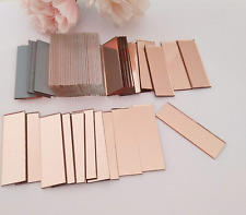 Rectangle Mirror Mosaic Tiles, Glass Small Rectangle Craft Mirrors,Mosaic Real M