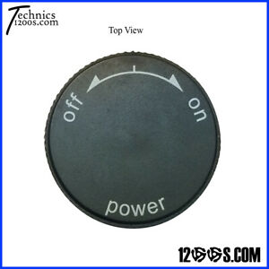 NEW POWER ON / OFF KNOB TOP (CAP) FITS TECHNICS SL 1200 1210 MK2 TURNTABLE