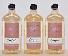 3 Bath & Body Works Aromatherapy Comfort Vanilla Patchouli Body Wash foam 10 oz