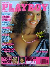 Playboy NL 11/1988, Pia Reyes, Susanne Koyen, Bruce Willis, Paula Parkinson
