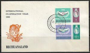 Bechuanaland 1965 International Co-operation Year Gaberones CDS Dated 25/10/65