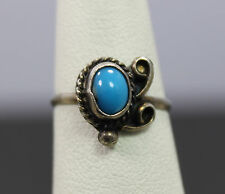 Sterling Silver Native Style Turquoise Ring Size 4.75