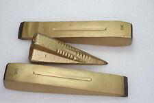 GREENAGRAR 3Stück Set Metall Spaltkeil  Keil Spaltgranate Holzspalter Axt