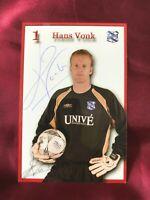 Autogramm HANS VONK-SC Heerenveen-NS SÜDAFRIKA-Ex-Ajax Cape Town/Den Bosch
