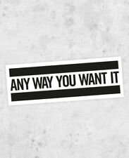 Any Way You Want It Sticker! Journey, Steve perry, small town girl, 80s rock
