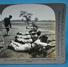 Stereoview Russo-Japanese War Japan Soldiers On The Skirmish Line Keystone View