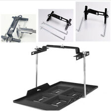 Car Adjustable Clamp Battery Tray ABS Kit Sturdy Construction Recessed Slots X1