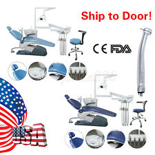 Dental Unit Chair Computer Controlled Dc Motor Hard Leather Stool Tja1 Handpiece