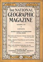 1927 National Geographic October - Chinese coolies across Mongolia, Tibet, China