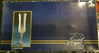 Cristal D'arques 14.5 CL Longchamp Crystal Champagne Flutes set of 6