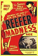 REEFER MADNESS MOVIE POSTER Marijuana Propaganda, SIZE 24X36