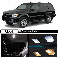 11x White Interior LED Lights Package Kit for 1999-2006 QX4 Pathfinder + TOOL