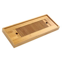 Bamboo Tea Tray Gongfu Tea Coffee Serving Tray with Water Storage Table Tray