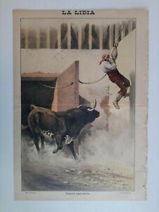 1893 La Lidia Revista Taurina Año XII Número 25 Litografía Toros Corrida